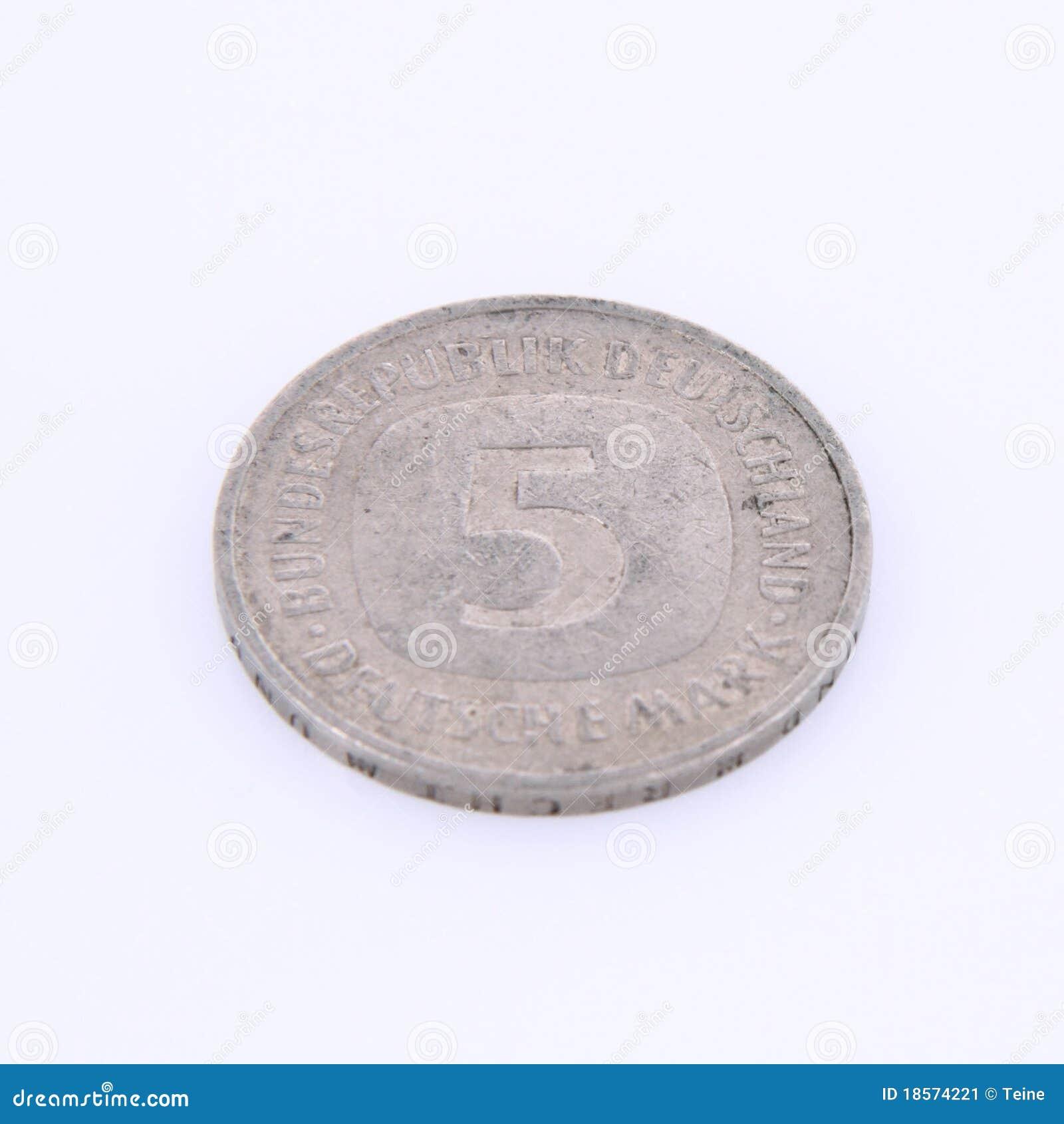 Alte Deutsche Münze Stockbild Bild Von Bankverkehr Finanziell