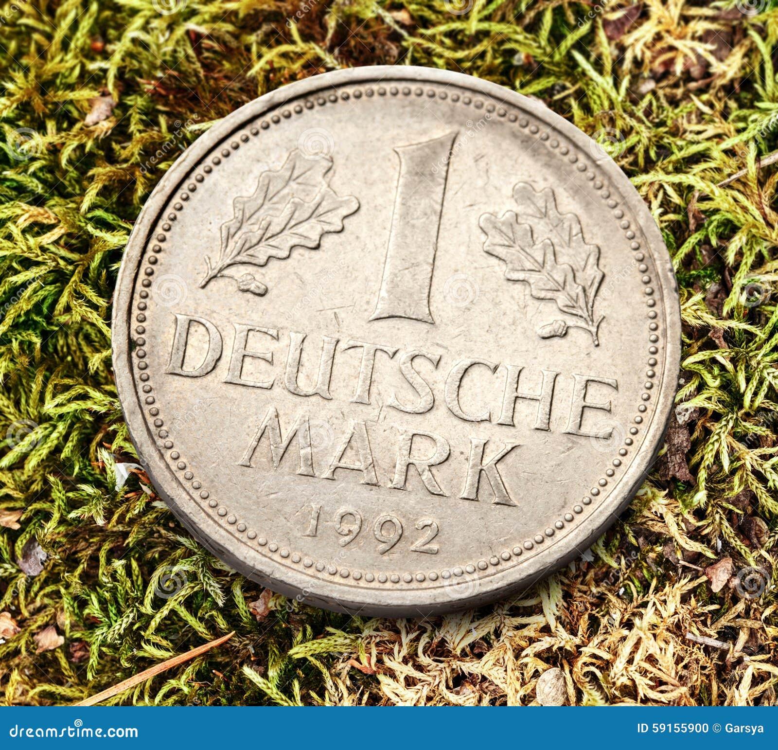 Alte Deutsche Münze Stockfoto Bild Von Zugelassen Makro 59155900