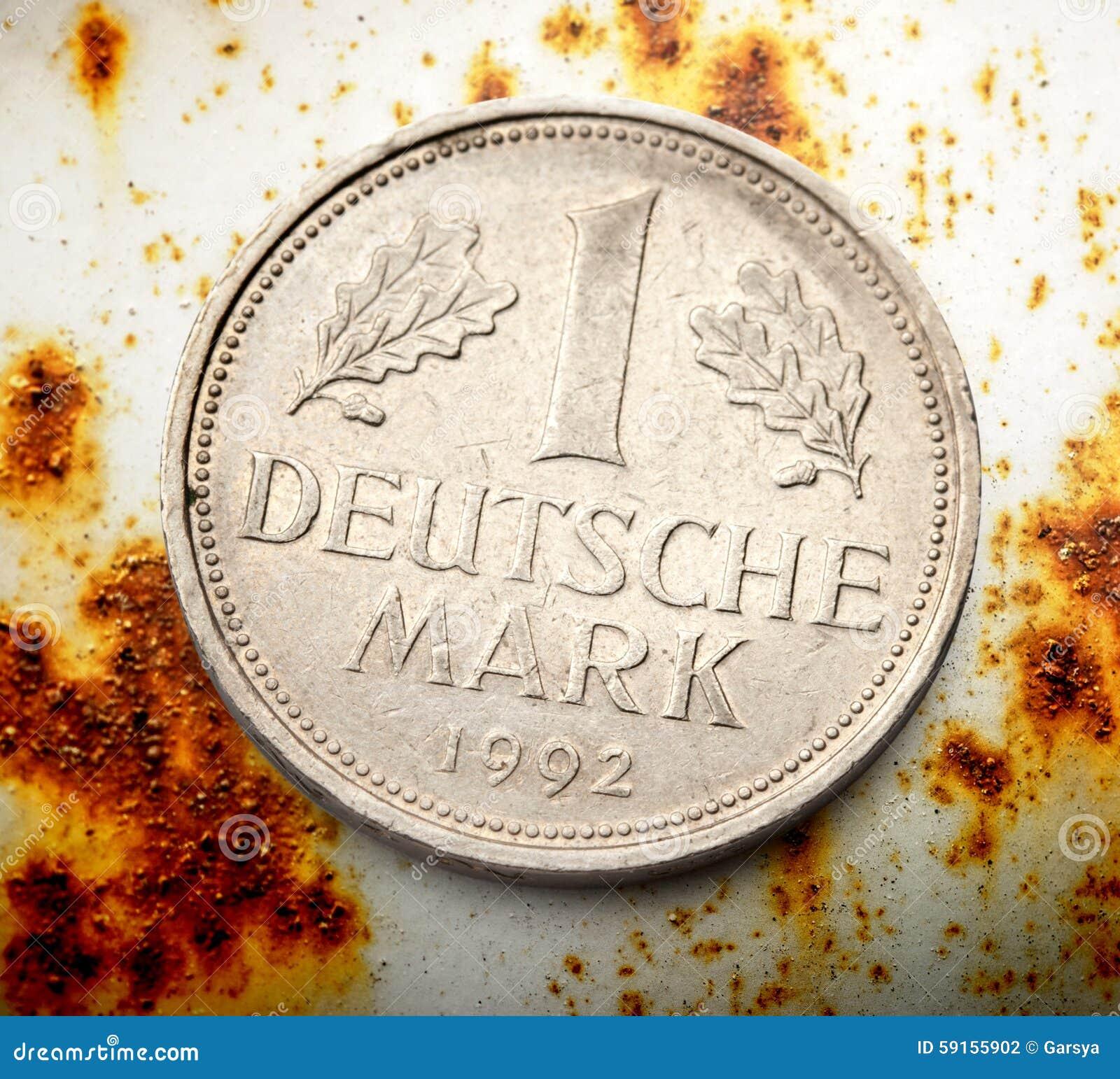 Alte Deutsche Münze Stockfoto Bild Von Ansammlung Rüber 59155902