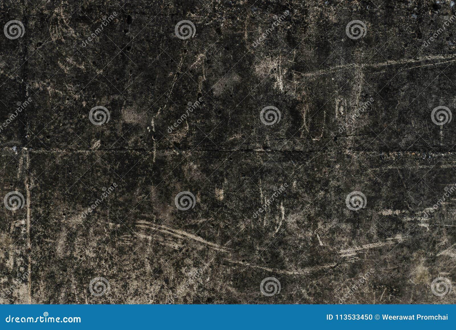 Alte dunkle schmutzige Betonmauer