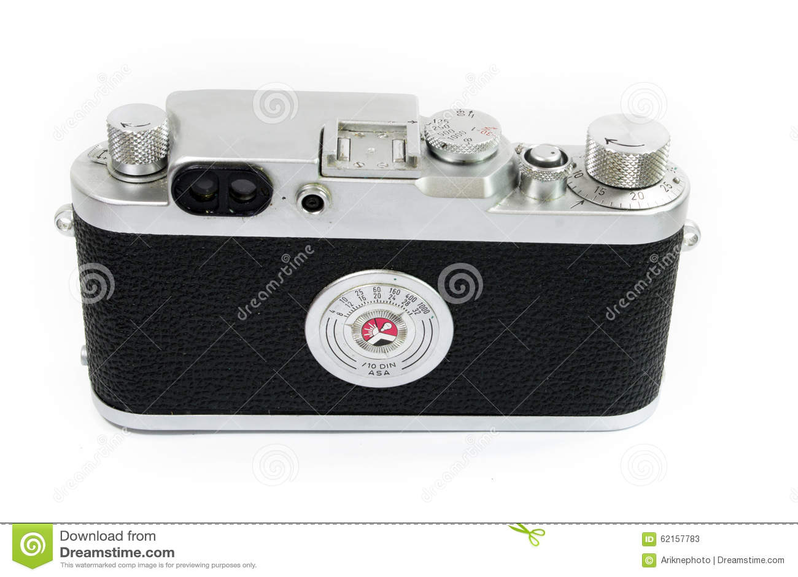 Alte entfernungsmesser kamera lokalisiert hintere ansicht