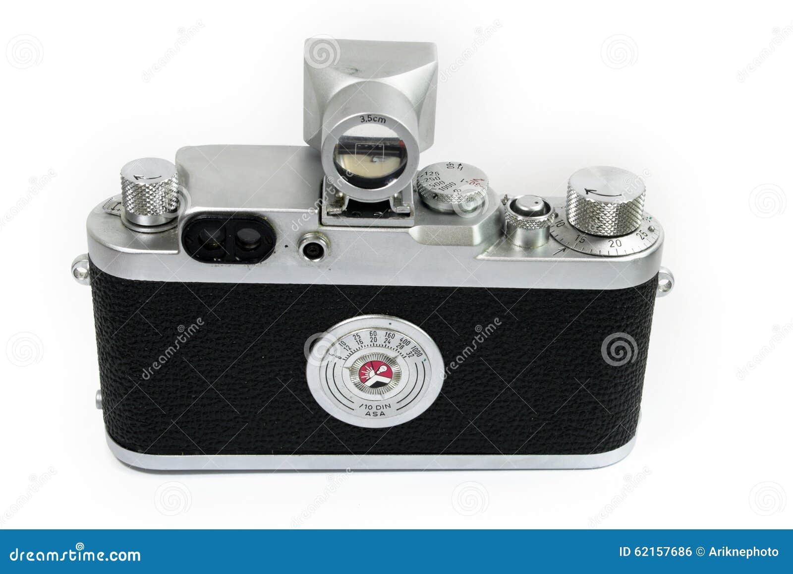 Alte entfernungsmesser kamera rückseiten ansicht stockfoto bild