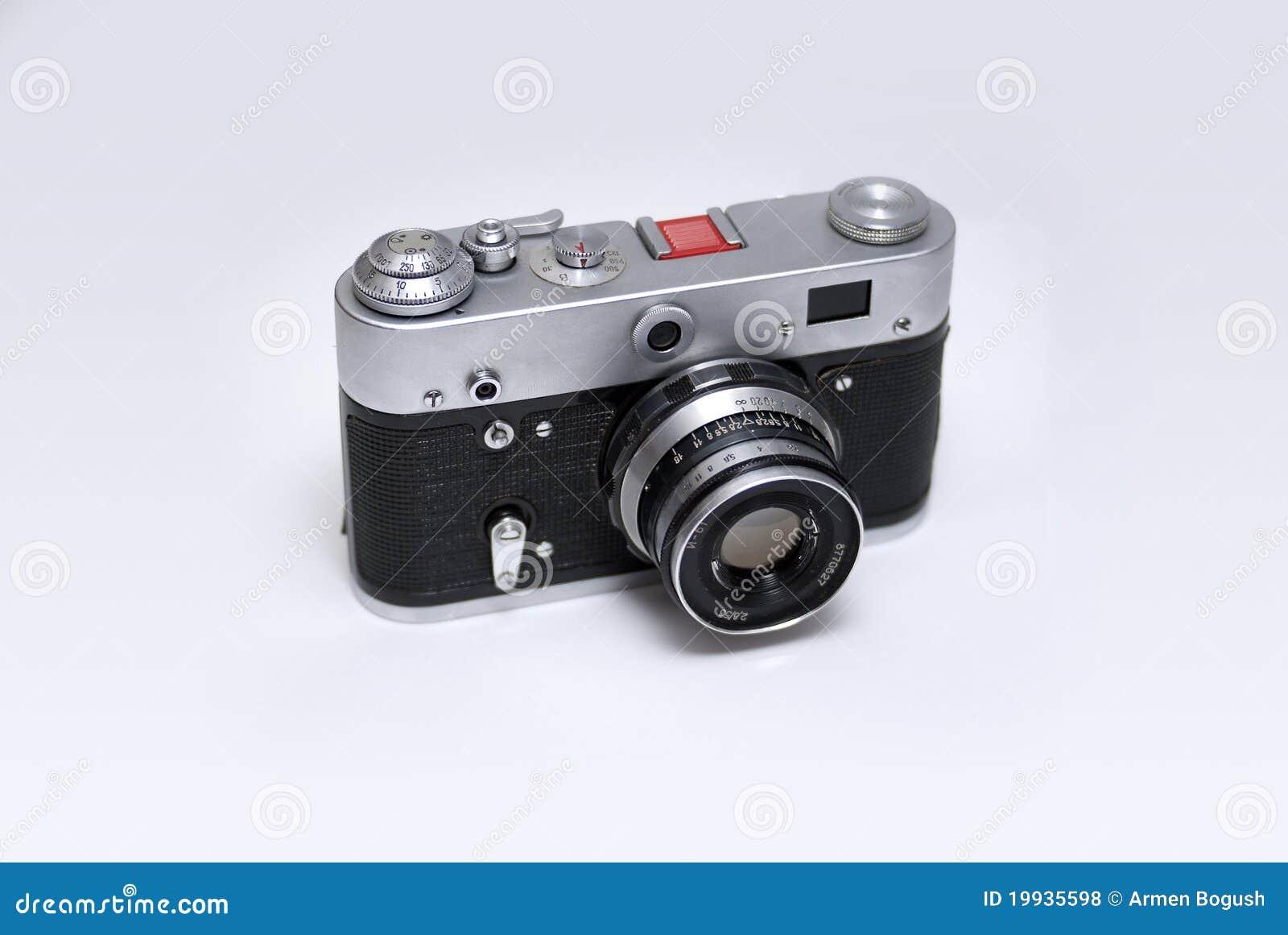 Alte entfernungsmesser russe kamera stockfoto bild von objektiv