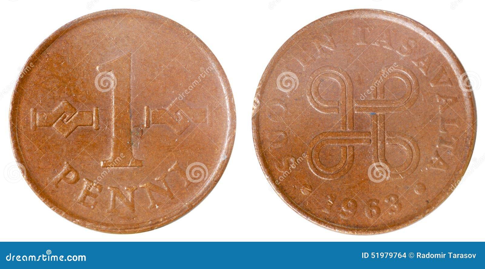 Alte Finnische Münze Stockfoto Bild Von Traditionell 51979764