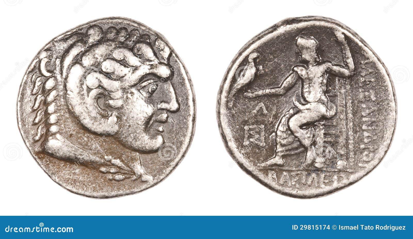 Alexander Der Große Münze Stockfoto Bild Von Darstellung 29815174