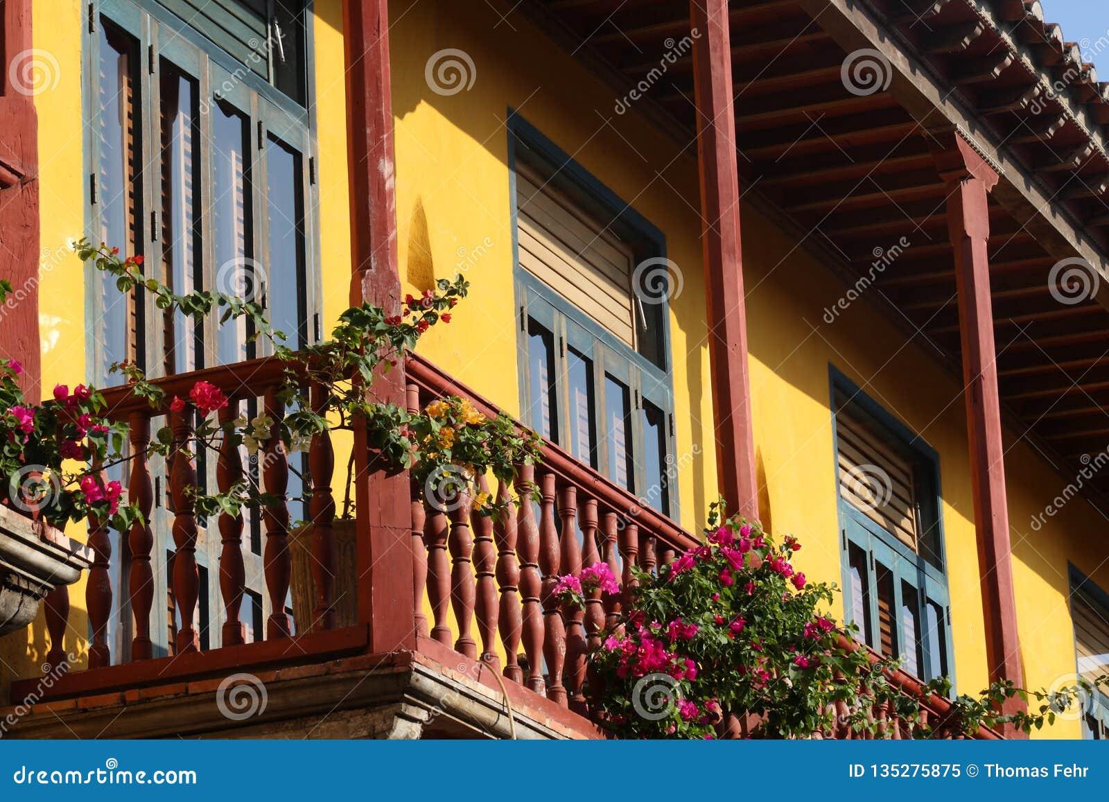 Alte Häuser in Cartagena in Kolumbien