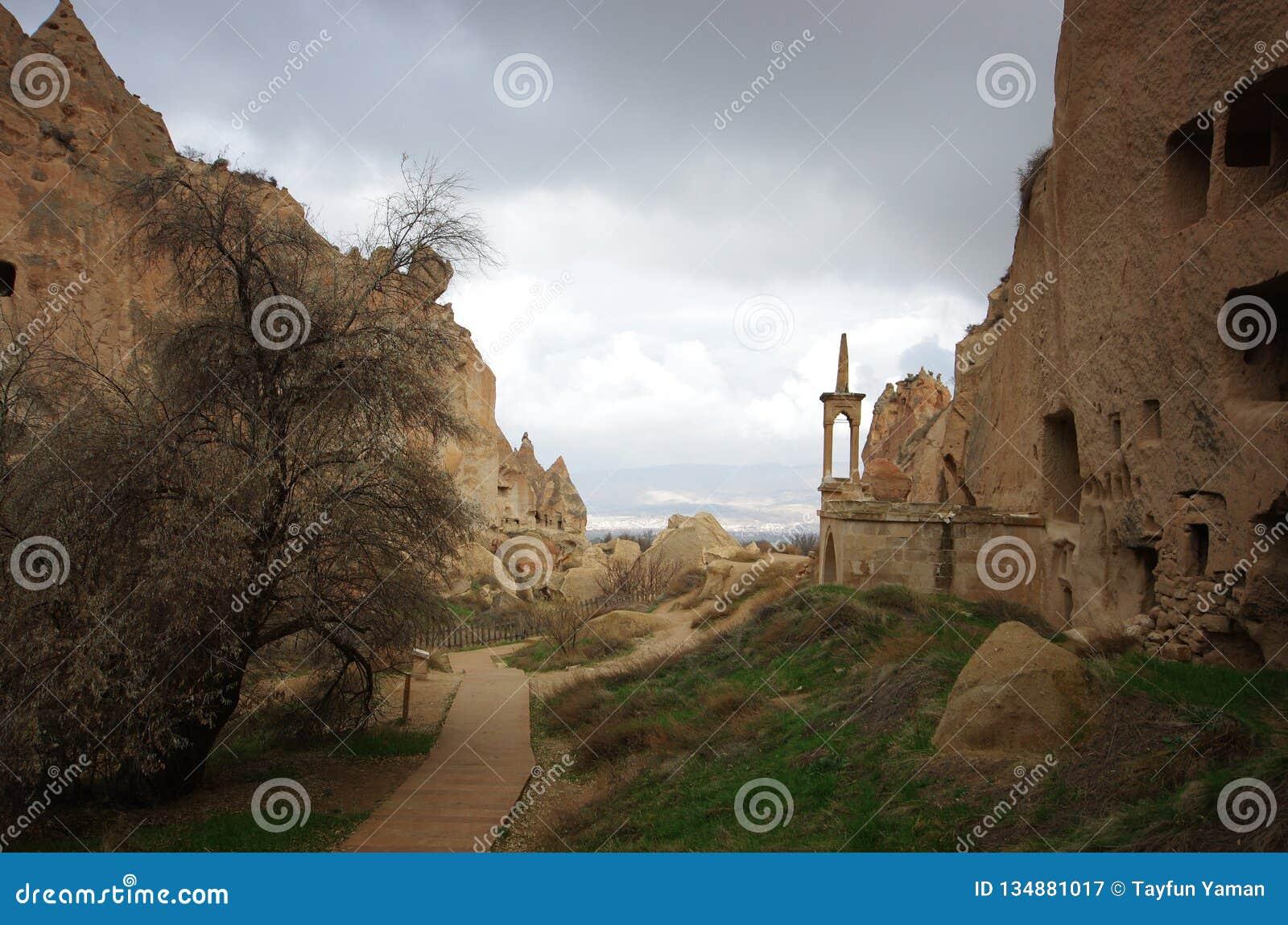 Alte Höhlen und Tempel von Cappadocia