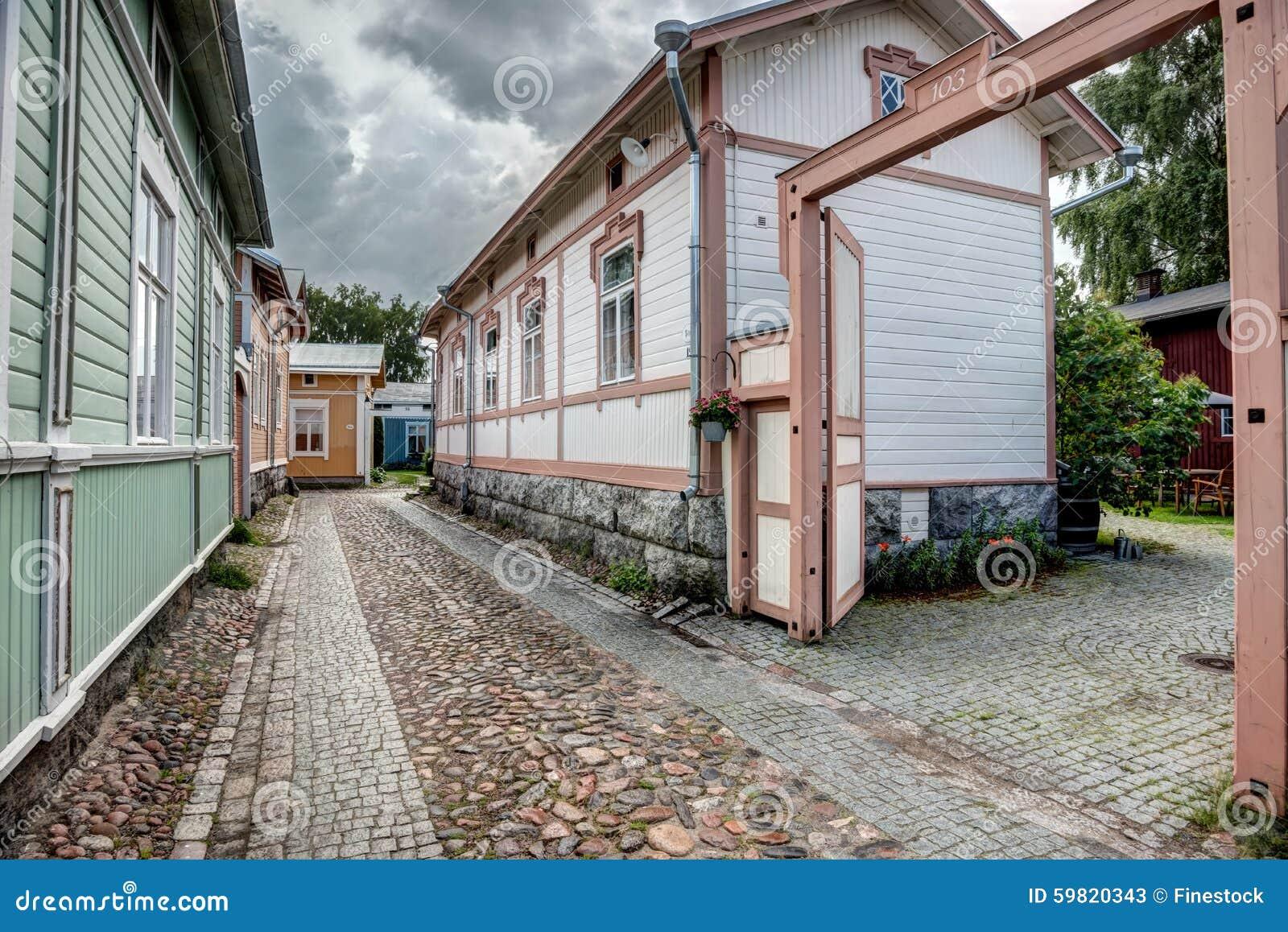 Alte holzhäuser in rauma finnland