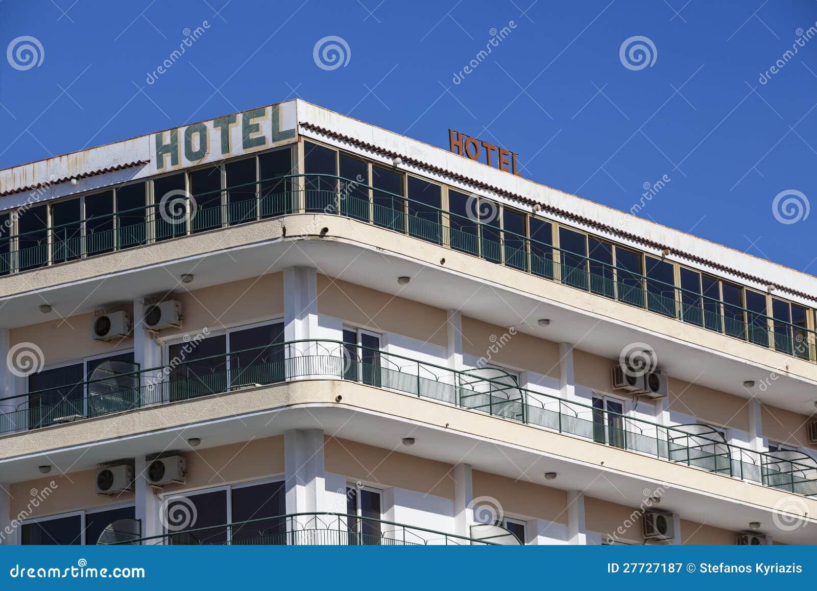 Alte Hoteldachoberseite