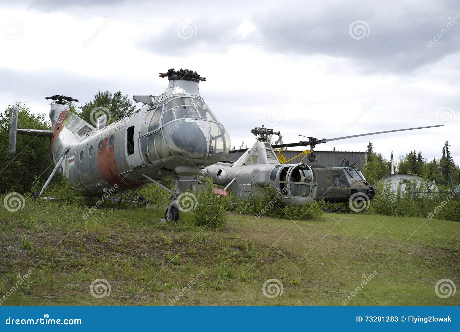 Alte Hubschrauber