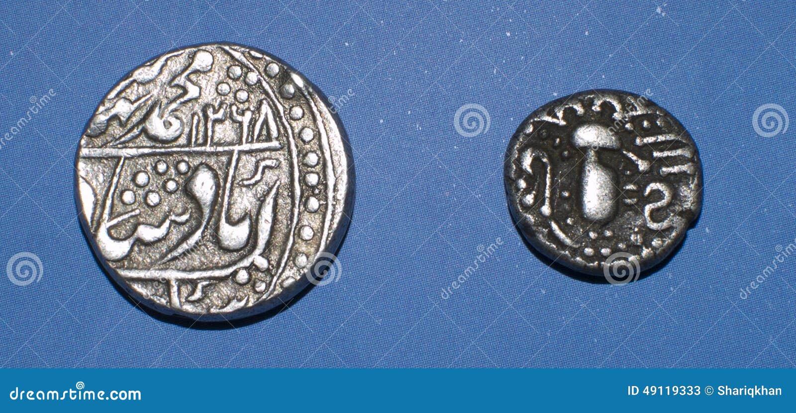 Alte Indische Münzen Stockbild Bild Von Zustände Fürstlich 49119333