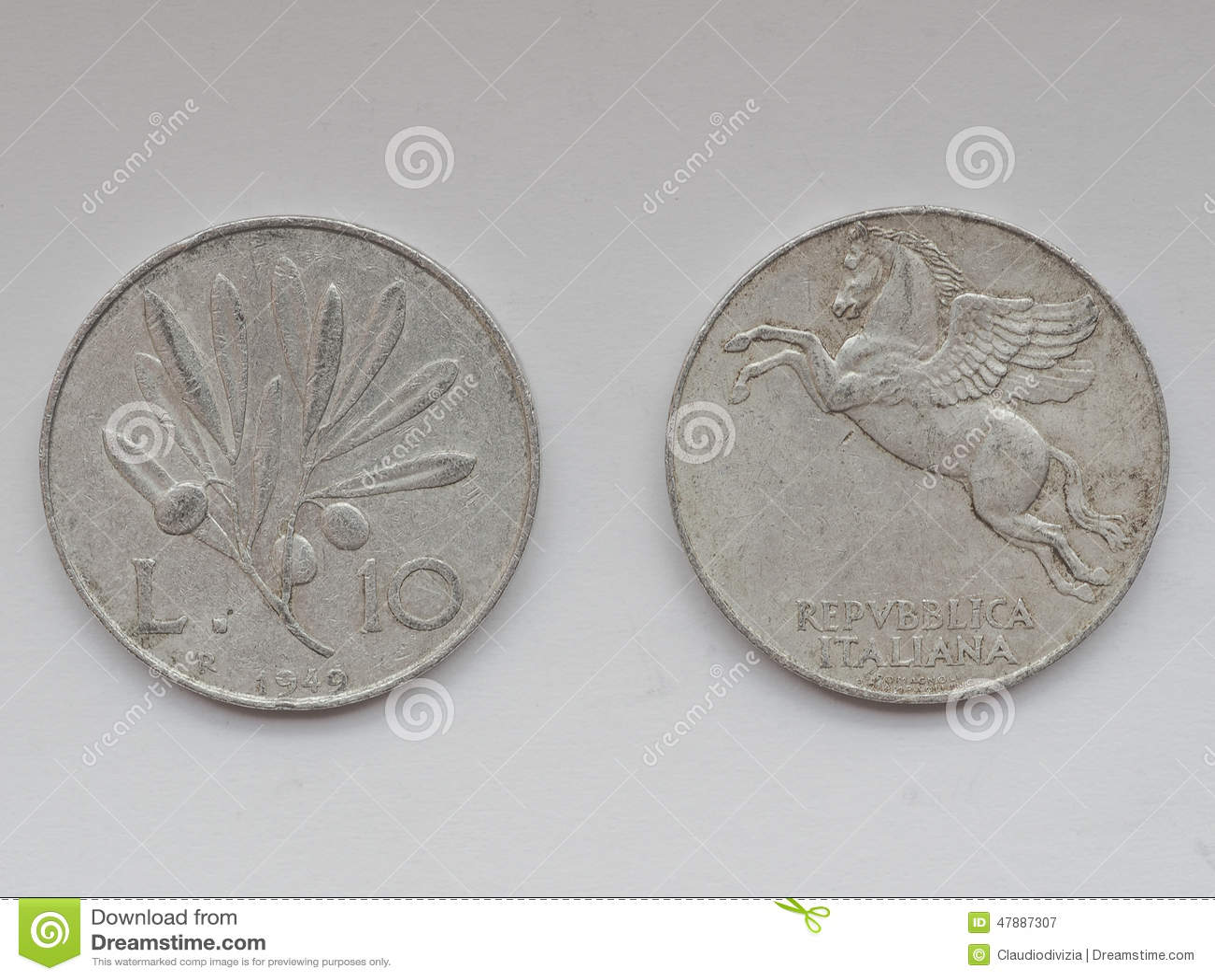 Alte Italienische Münzen Stockbild Bild Von Europa Münze 47887307