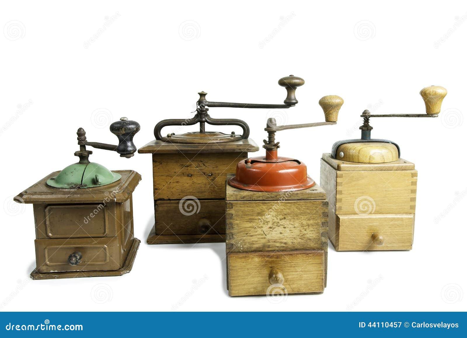 Kaffeemühlen  Alte Kaffeemühlen Stockfoto - Bild: 44110457