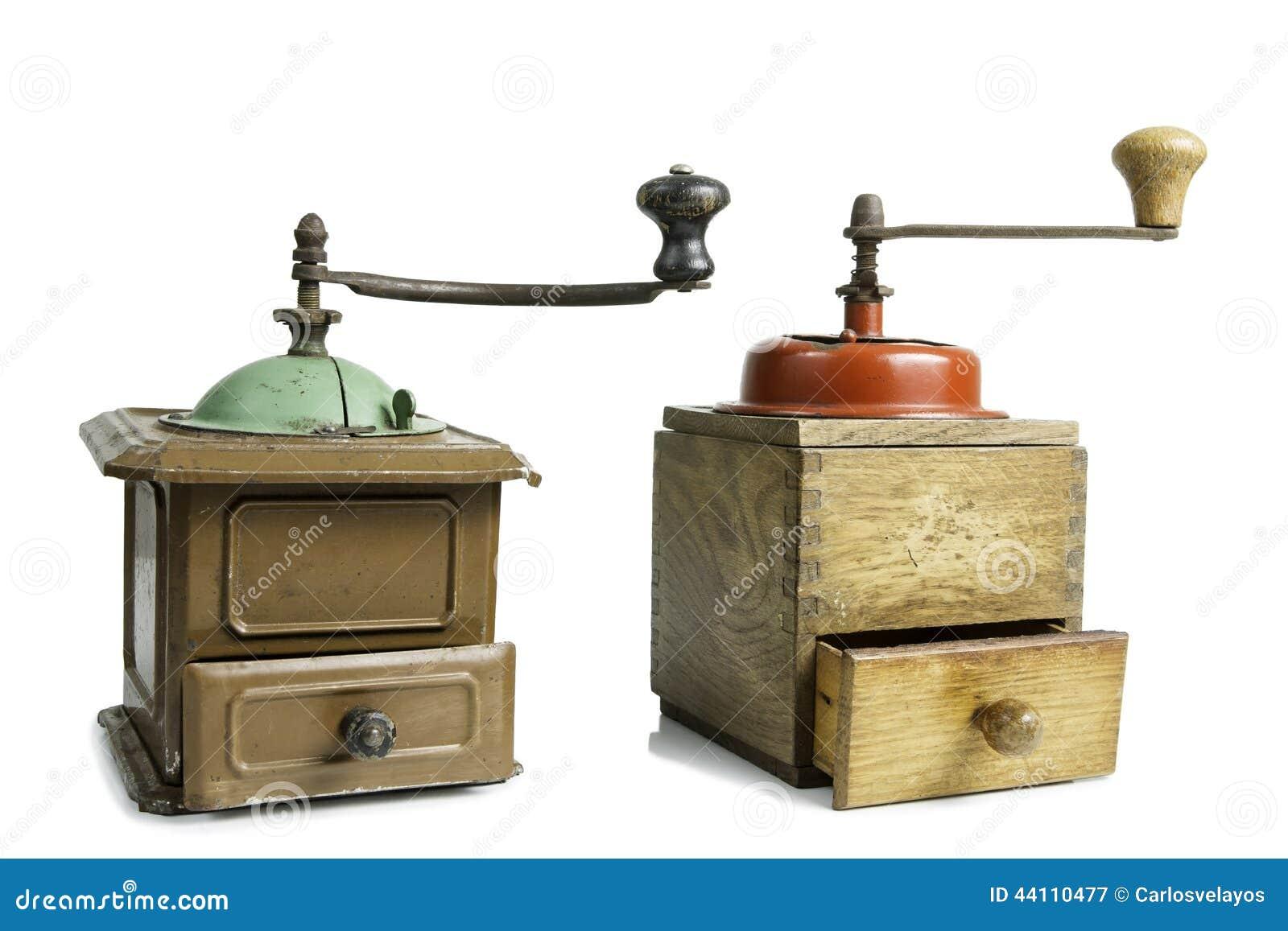 Alte Kaffeemühlen Stockfoto - Bild: 44110477   {Kaffeemühlen 68}
