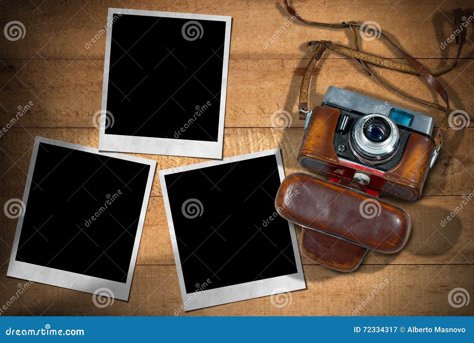 Alte Kamera und sofortige Foto-Rahmen