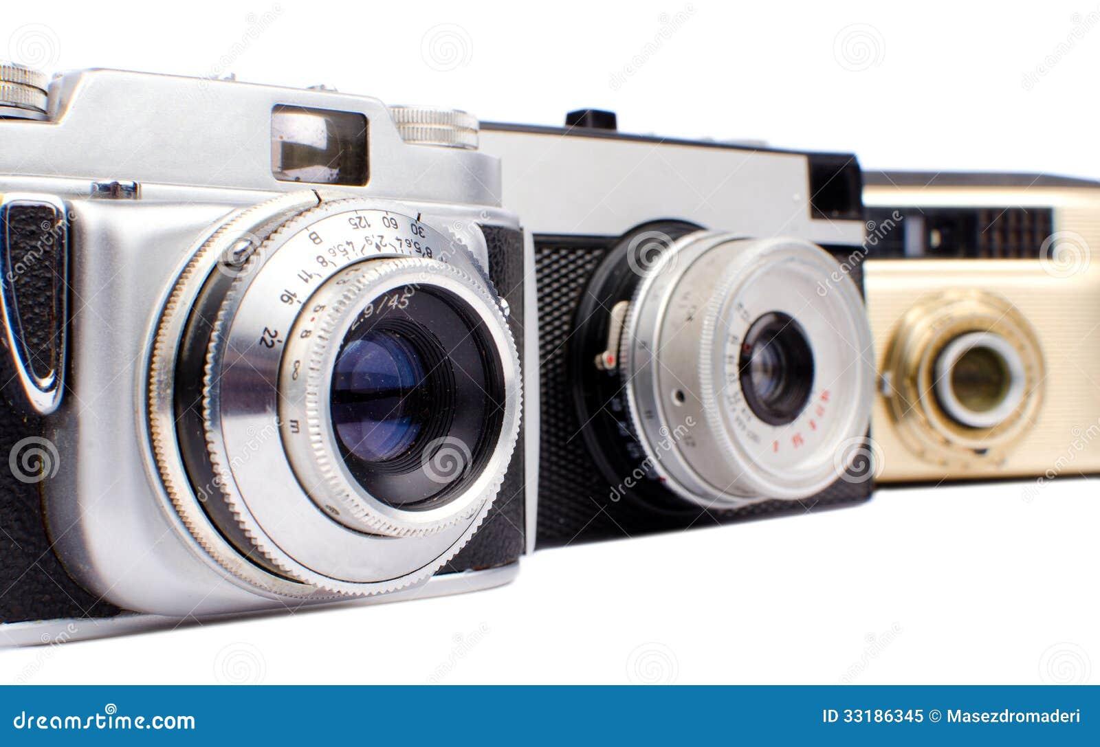 Alte kameras stockbild bild von entfernungsmesser optisch
