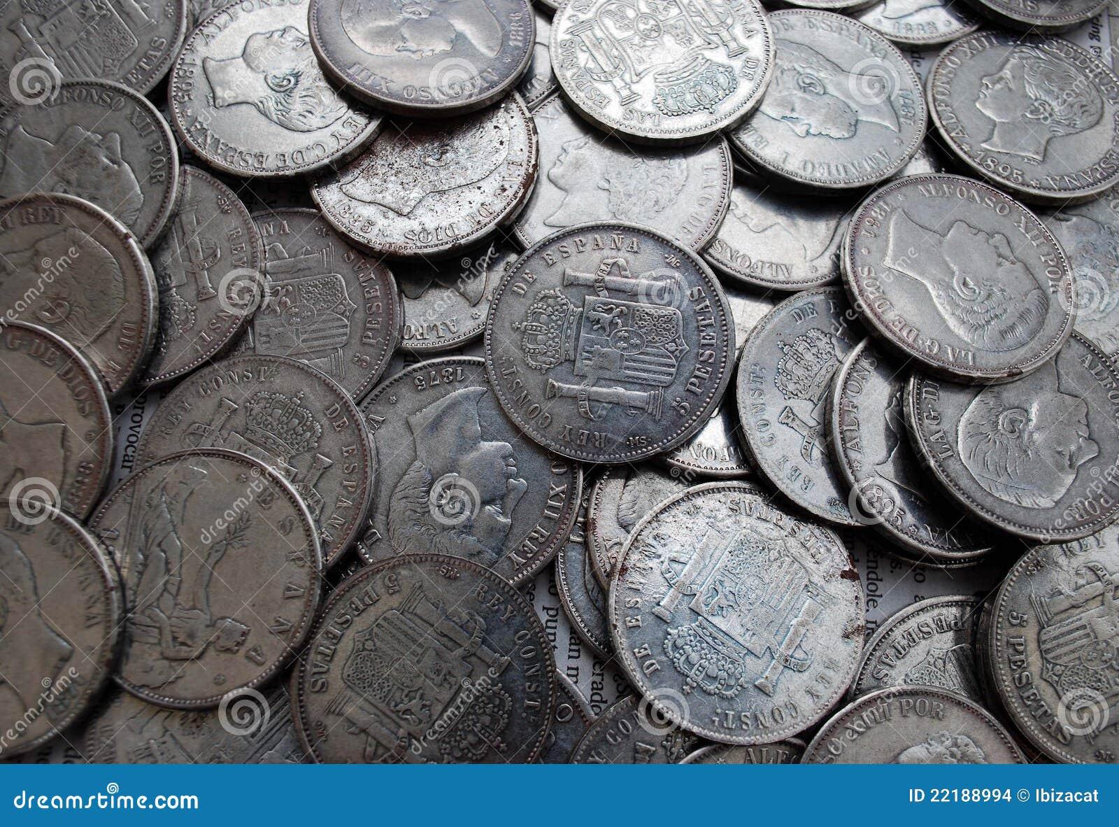Alte Münzen Stockfoto Bild Von Numismatics Wertvoll 22188994