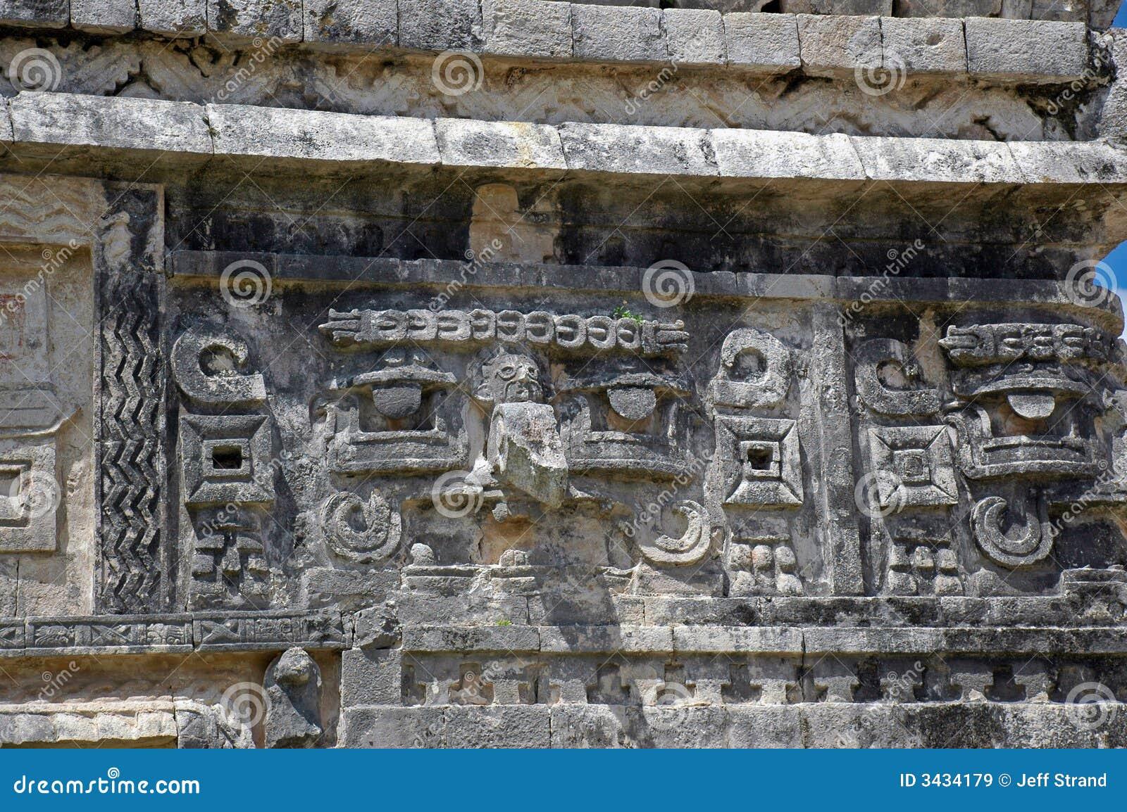 Alte MayanonnenklosterCarvings