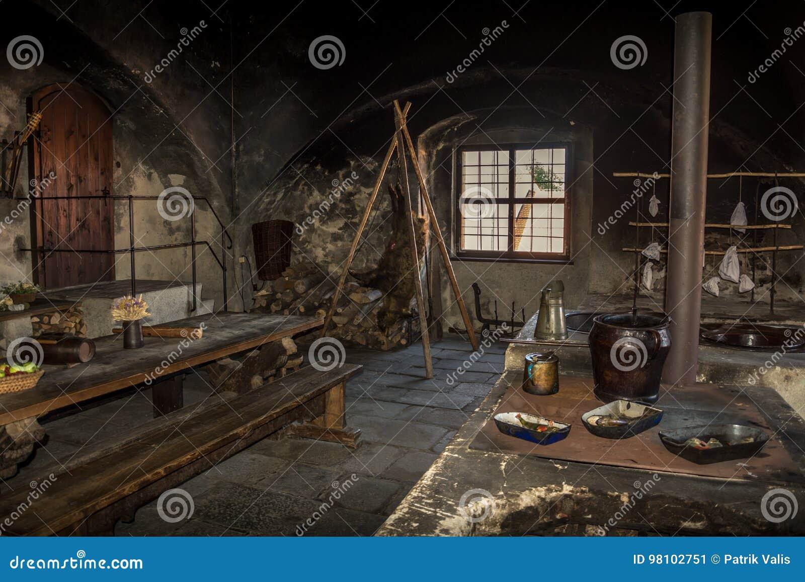 Alte Mittelalterliche Küche