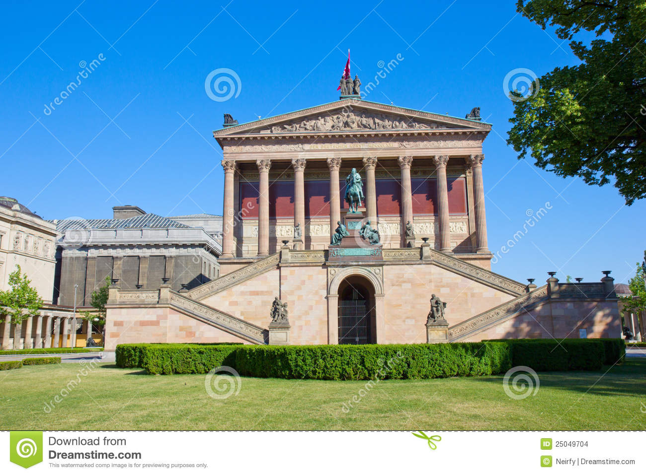alte nationalgalerie at museumsinsel in berlin stock photo image 25049704. Black Bedroom Furniture Sets. Home Design Ideas