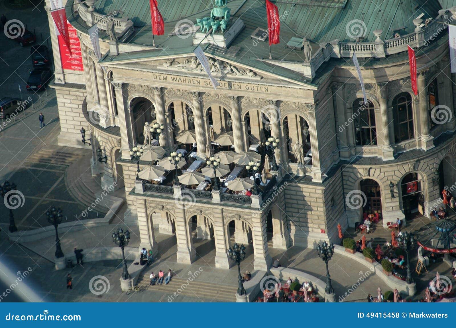 Download Alte Operation Frankfurt redaktionelles stockfoto. Bild von tourismus - 49415458