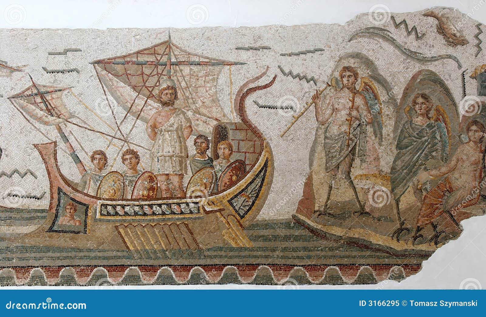 Alte Römische Mosaikfliesen Stockbild Bild Von Mosaik Afrika - Alte mosaik fliesen