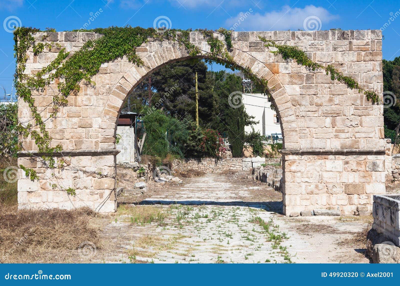 Alte römische Ruinen des Hippodroms und des Friedhofs im Libanon