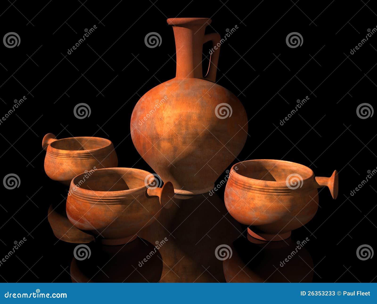 Alte römische Tonwaren