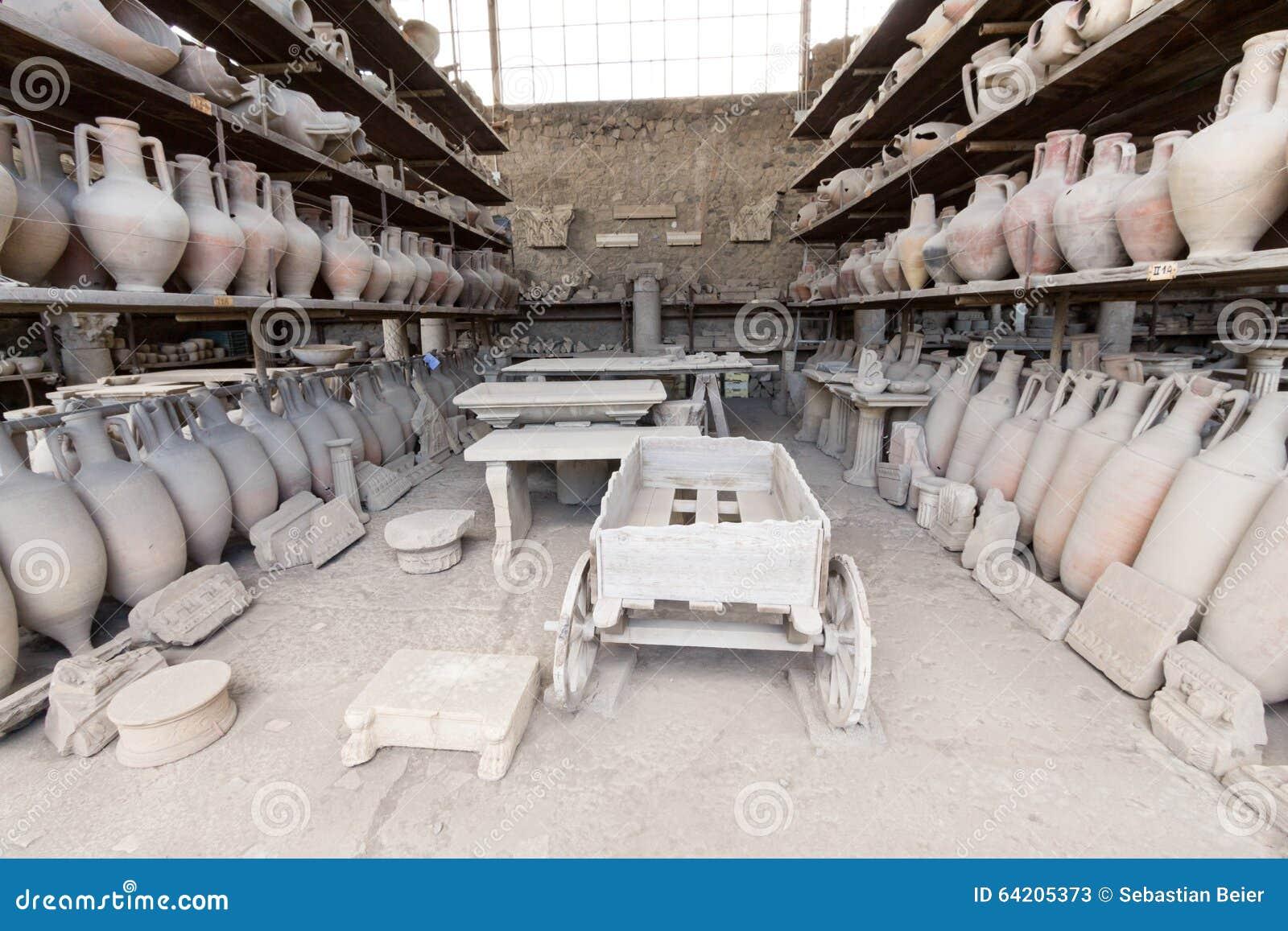 Alte Roman Pompei-Ruinen