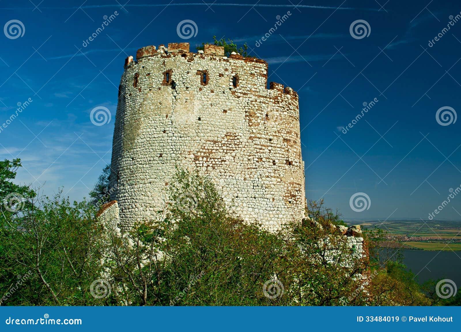 Alte Ruine des Schlosses