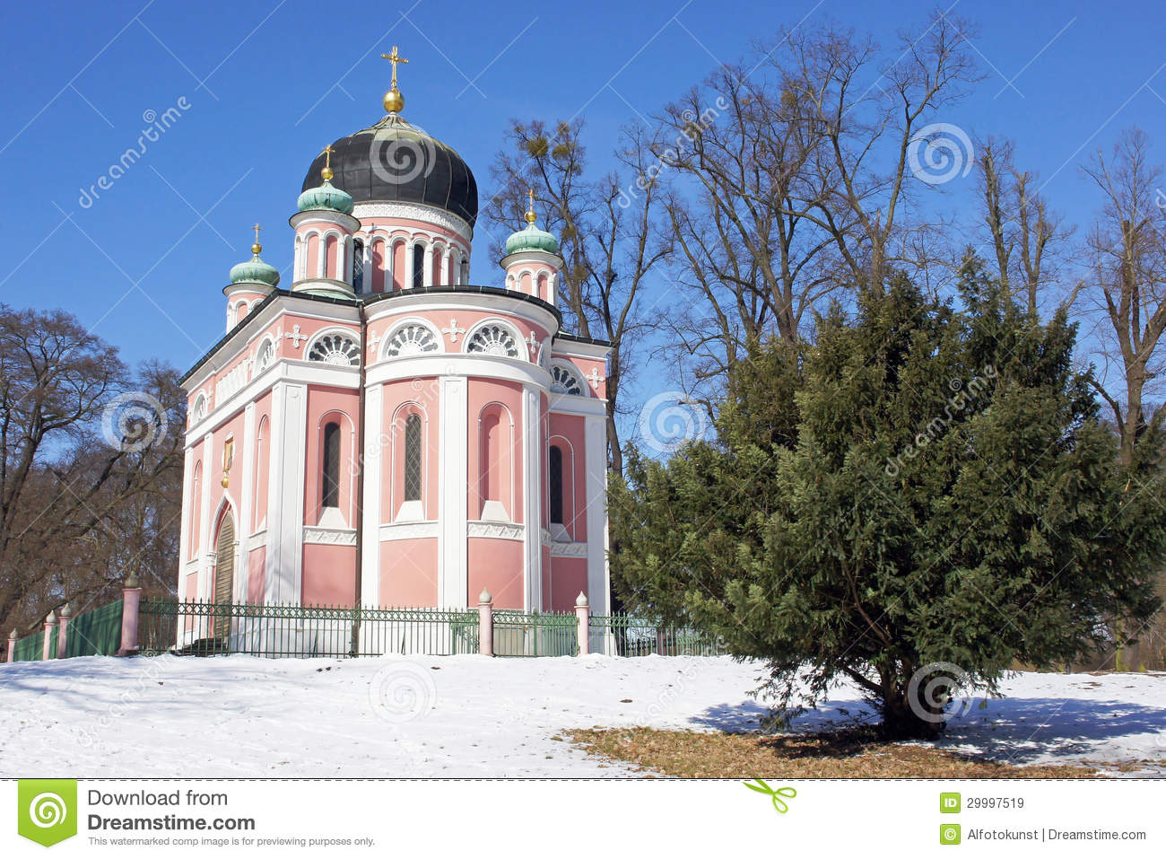 russische kirche potsdam deutschland stockbild bild von ferien zinsen 29997519. Black Bedroom Furniture Sets. Home Design Ideas