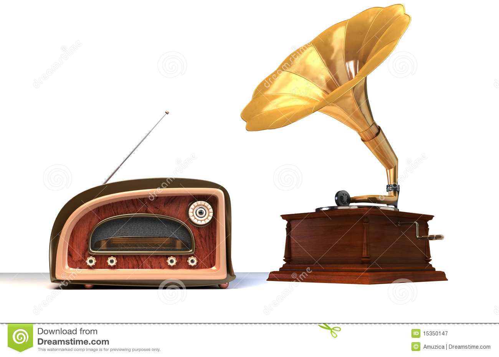 alte sachen stock abbildung bild von megaphon grammophon 15350147. Black Bedroom Furniture Sets. Home Design Ideas