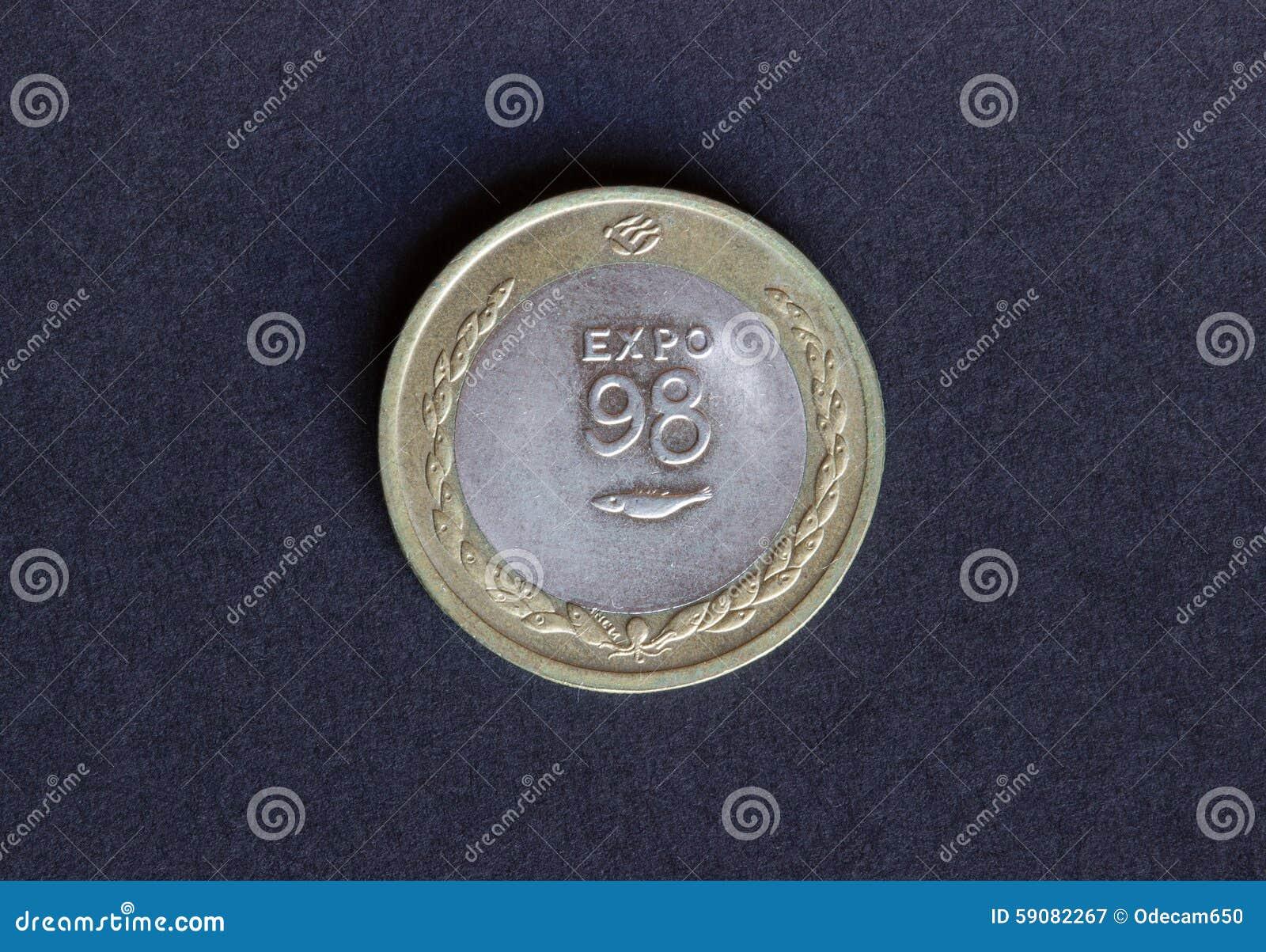Alte Schilder Der Münze 200 Stockbild Bild Von Geld