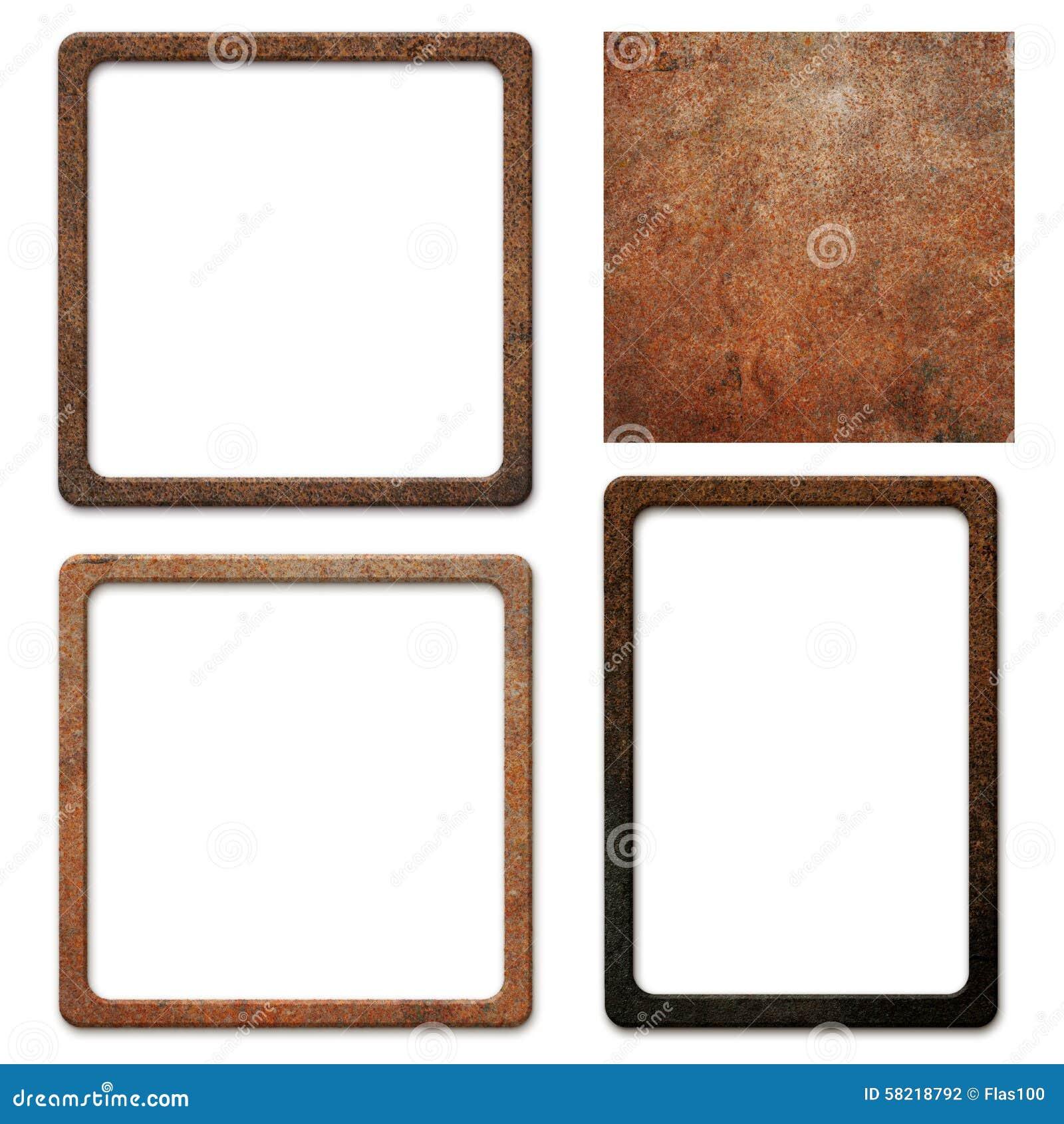 alte schmutzige rostige metallplatte mit rahmen stockfoto bild 58218792. Black Bedroom Furniture Sets. Home Design Ideas