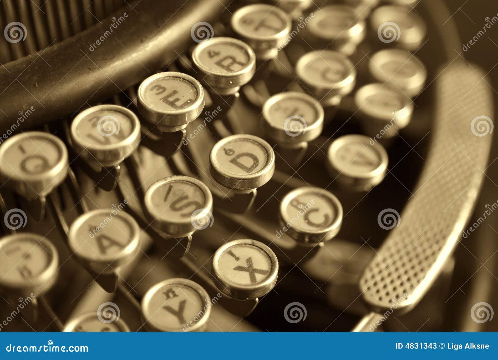 Alte Schreibmaschine, Nahaufnahme