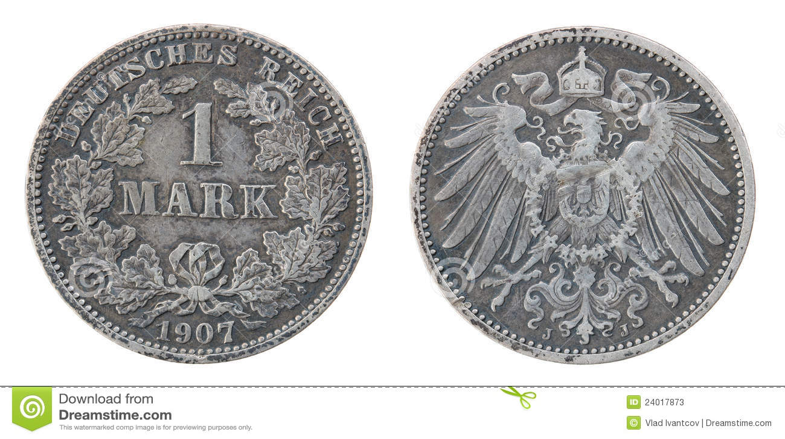 Alte Silberne Deutsche Münze Stockbild Bild Von Rund Silber