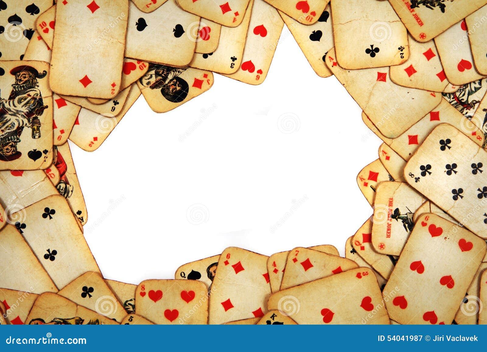 Spielkarten der alten Maid der Weinlese
