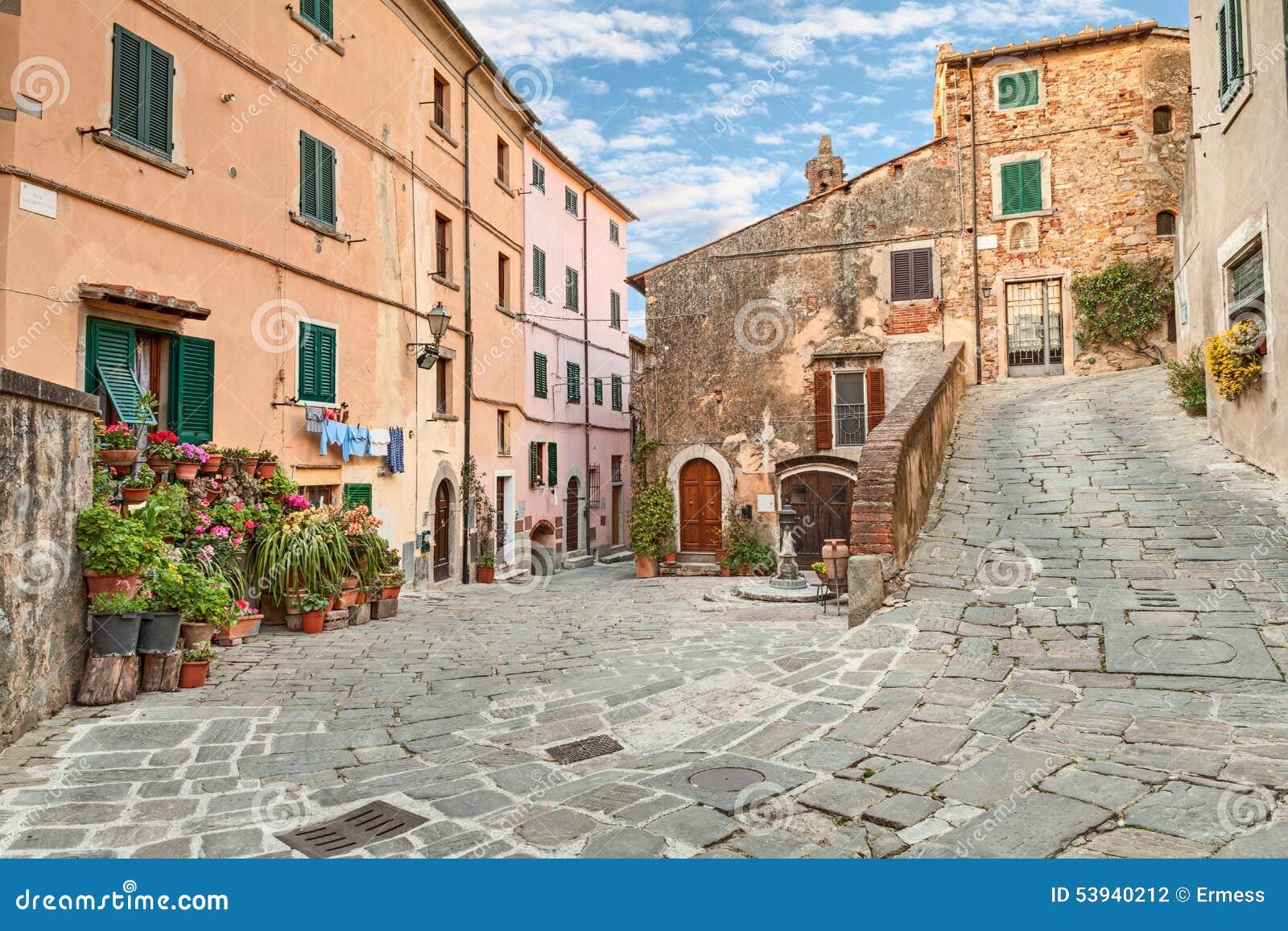 Alte Stadt Castagneto Carducci, Toskana, Italien