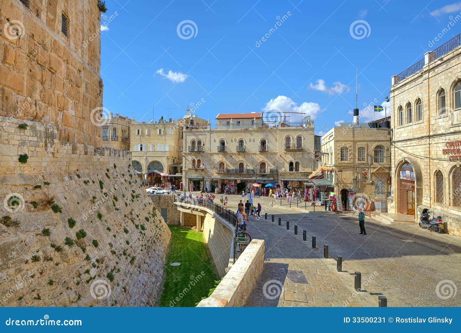 Alte Stadt Von Jerusalem Israel Redaktionelles Foto Bild Von