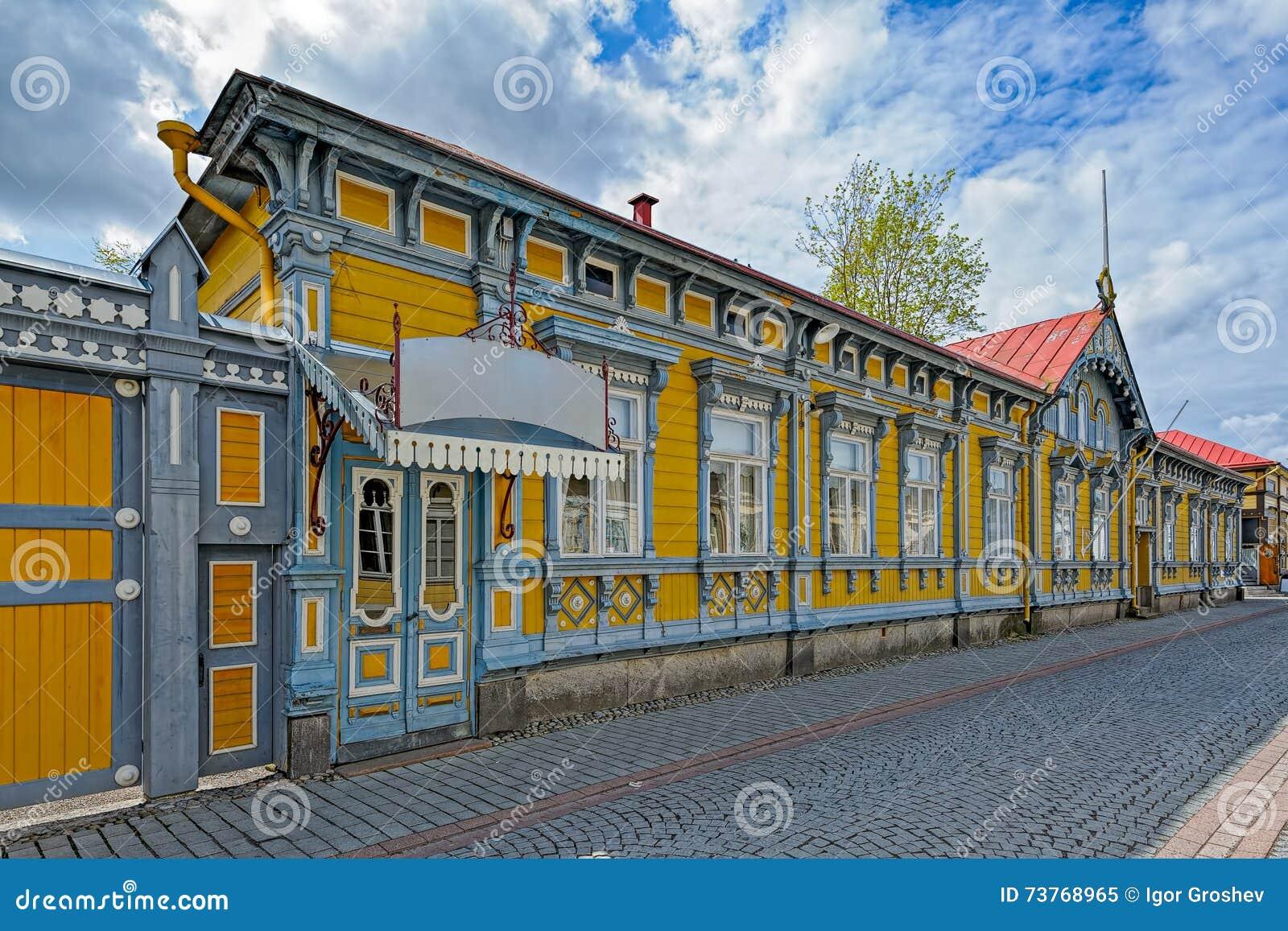 Alte stadt von rauma finnland lizenzfreies stockfoto