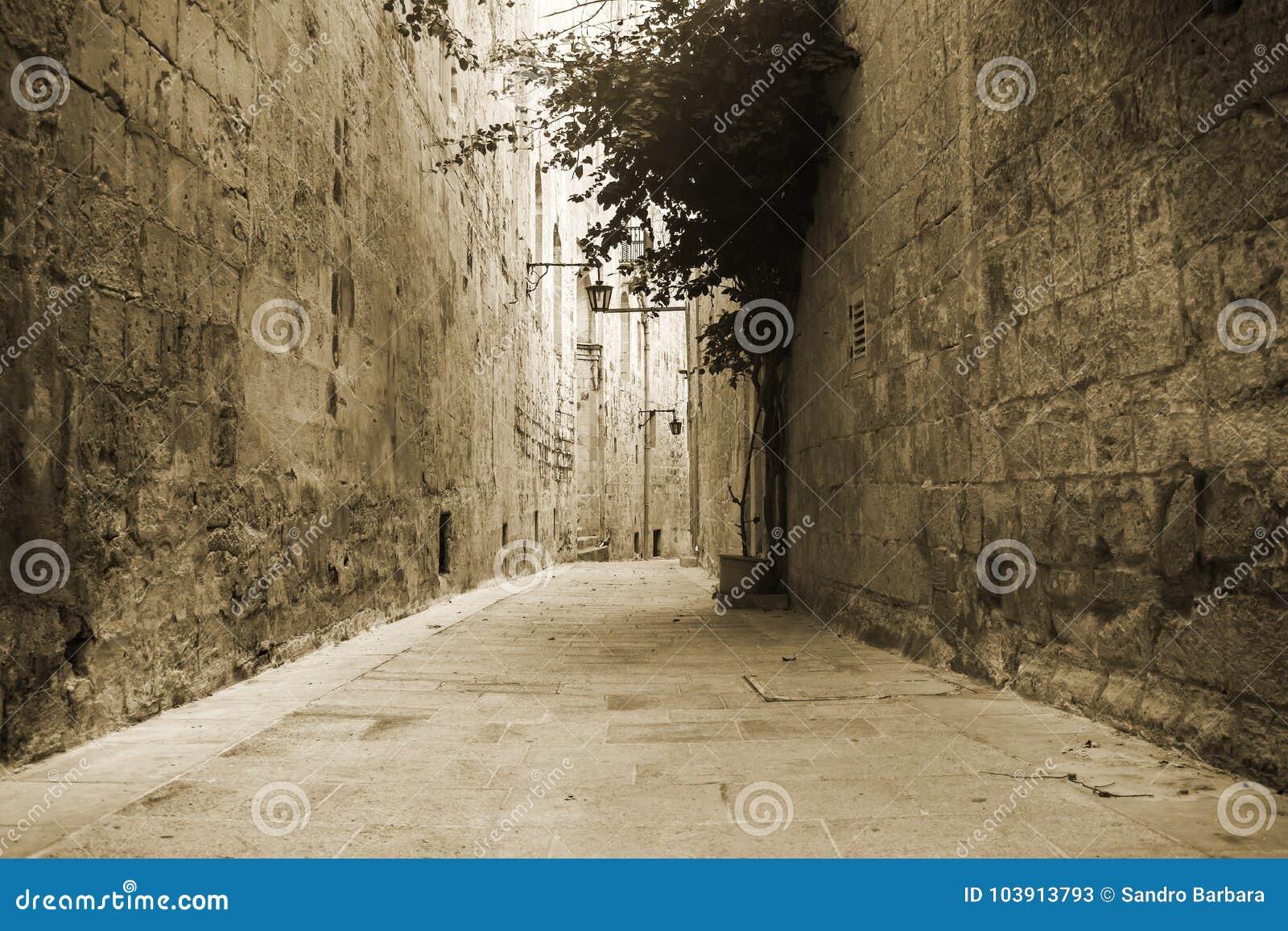 Alte Straße in Mdina