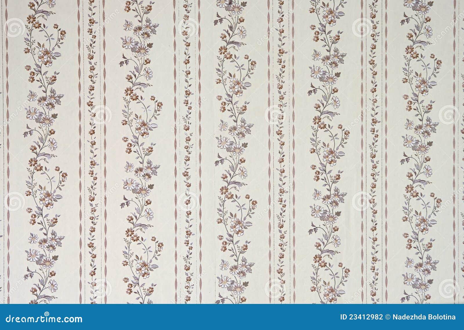 alte tapete stockfoto. bild von dekor, auslegung, floral - 23412982