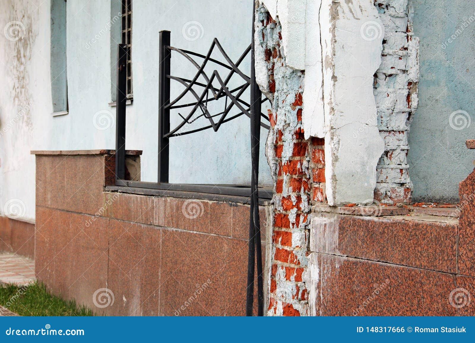 Alte Wand Die Wand fällt auseinander