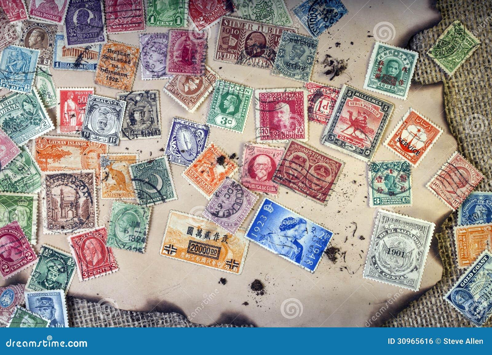 Alte Weinlese-Briefmarken