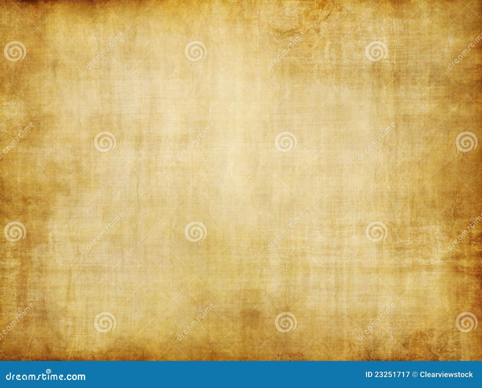 Alte Weinlese-Pergamentpapierbeschaffenheit des gelben Brauns