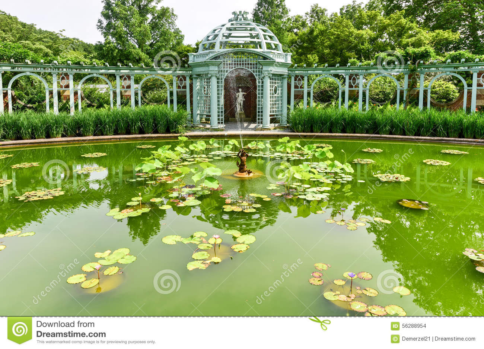 Alte Westbury Garten Villa Long Island Stockfoto Bild Von