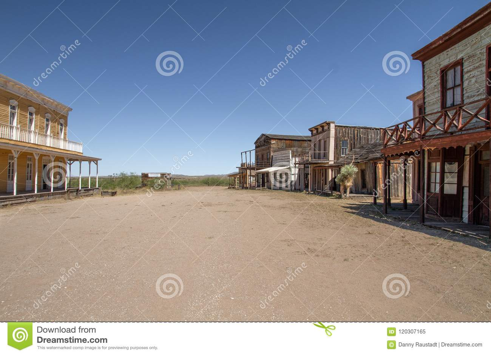 Alte wilde Westfilmbühne im Mescal, Arizona