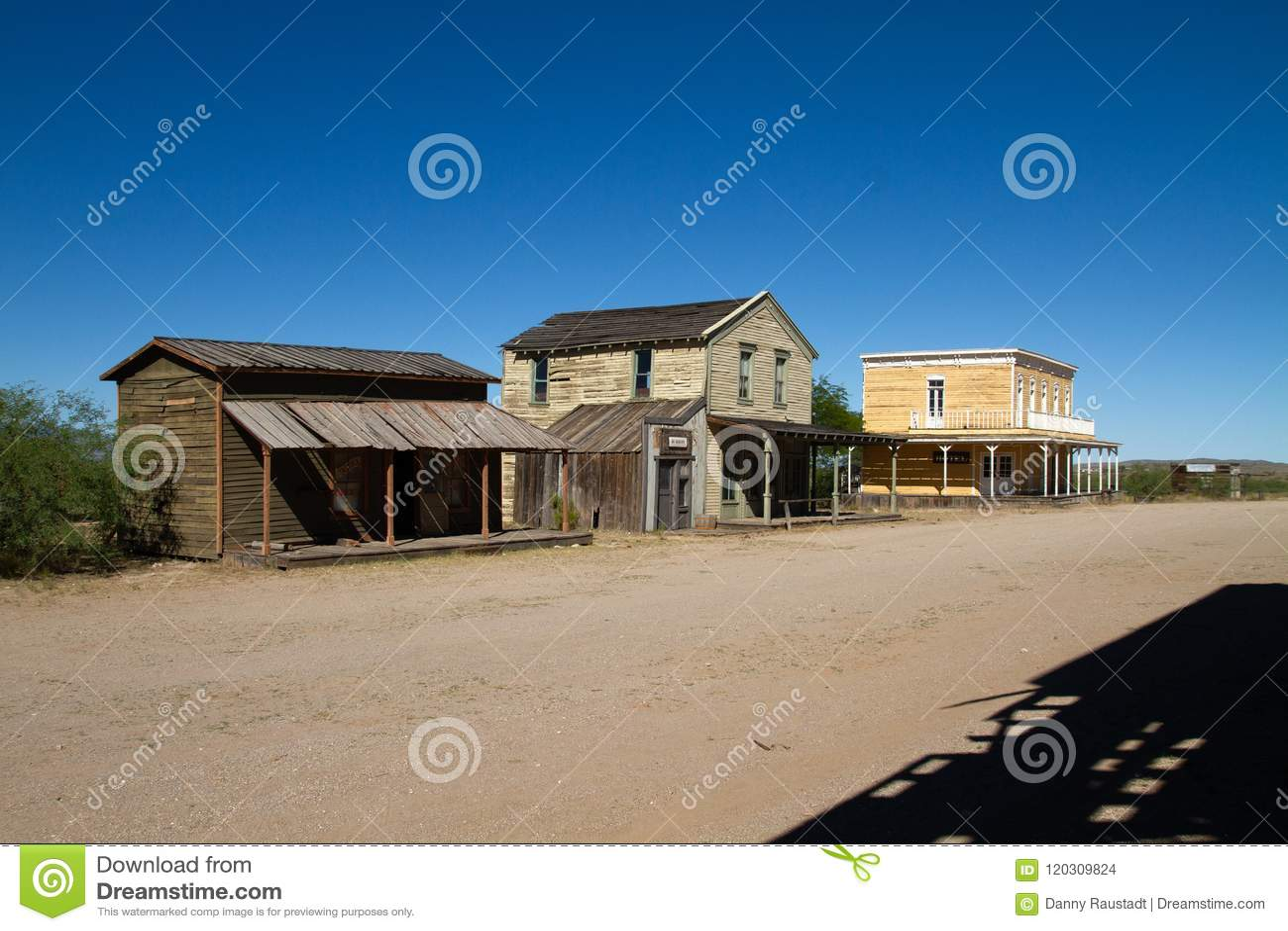 Alte wilde Weststadtfilmbühne im Mescal, Arizona