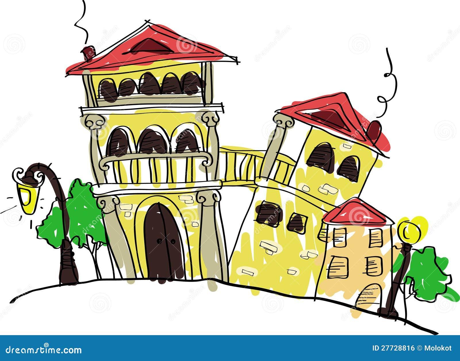 Alte Ziegelsteinhäuser