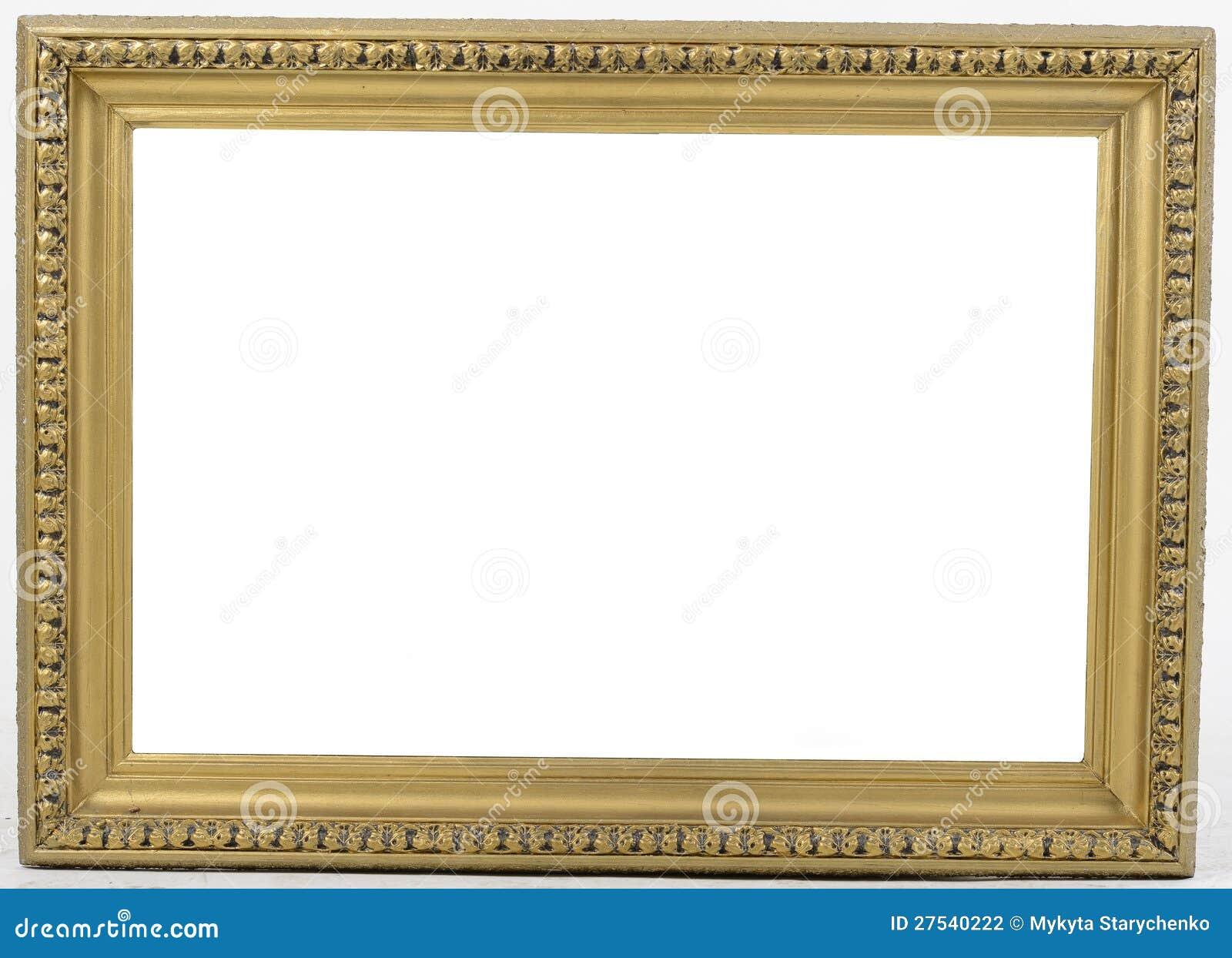 Alter Bilderrahmen Auf Weißem Hintergrund Stock Abbildung ...